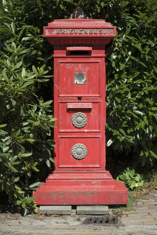 Klasyczny Holenderski listowy pudełko zdjęcie stock