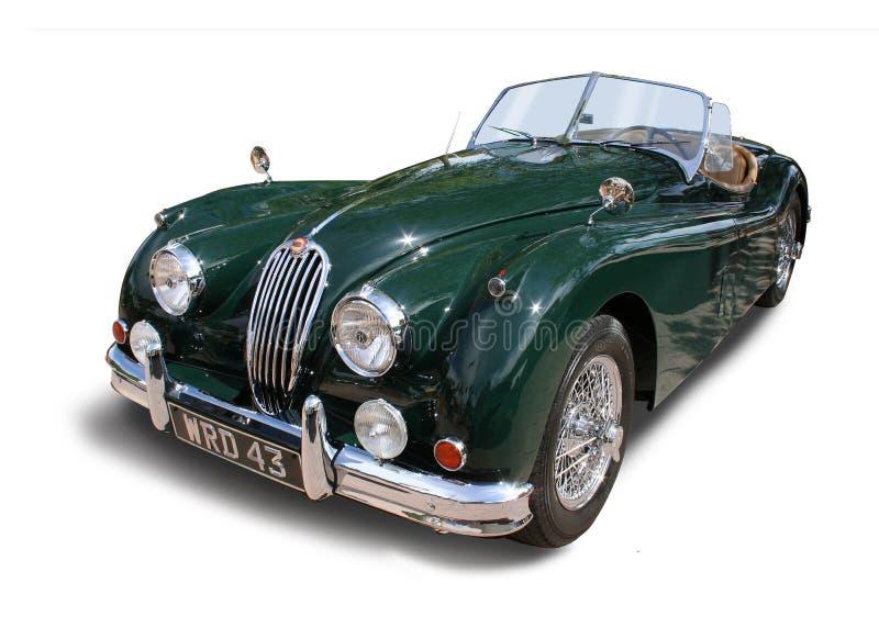 Klasyczny Jaguar XK140 sportów Brytyjski samochód Jaguar odizolowywał obraz royalty free
