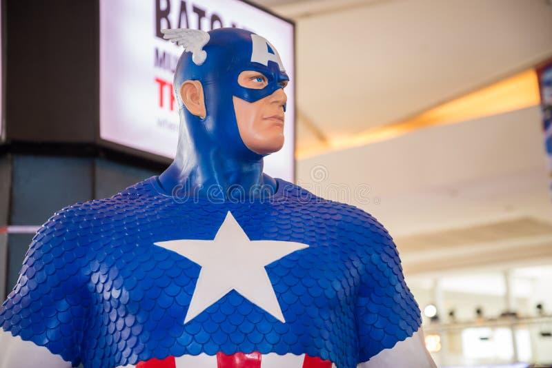 Klasyczny kapitanu Ameryka model na pokazie zdjęcia royalty free