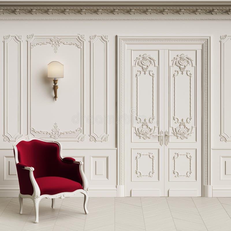 Klasyczny karło w klasycznym wnętrzu z kopii przestrzenią zdjęcia royalty free