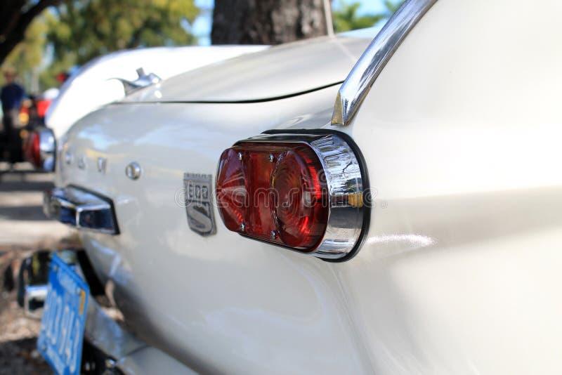 Klasyczny luksusowy europejski samochodowy tylni szczegół zdjęcia stock