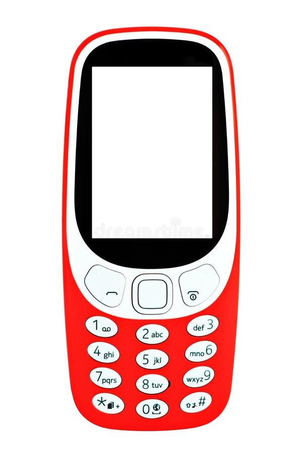 Klasyczny mobilny telefon komórkowy obrazy royalty free