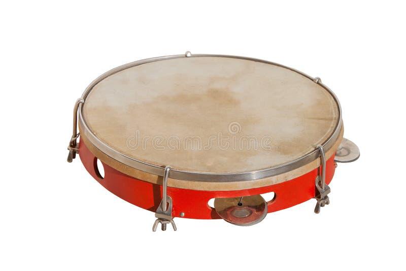 Klasyczny muzyczny instrument tambourine zdjęcia royalty free