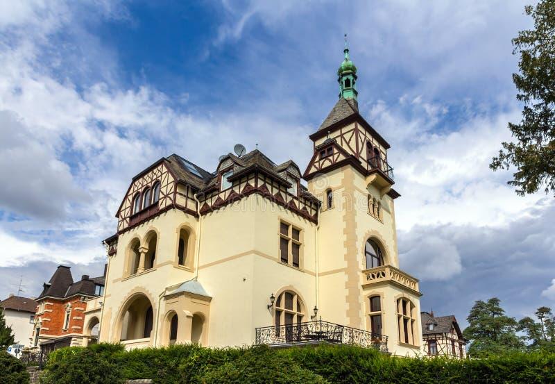 Klasyczny niemiec dom w Koblenz fotografia royalty free