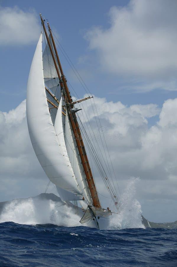 klasyczny pożeglować jacht zdjęcie royalty free