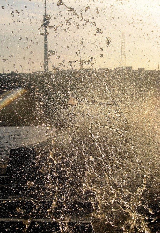 Klasyczny pogodny strzał morza kaspijskiego boardwalk w Baku, Azerbejdżan nocą zdjęcia royalty free