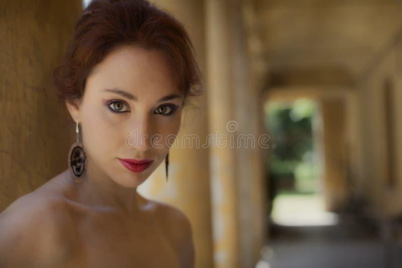 Klasyczny retro stylowy portret zdjęcia stock