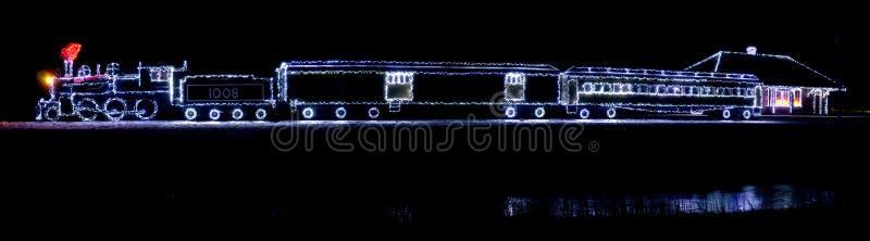 Bożonarodzeniowe Światła pociąg zdjęcie royalty free