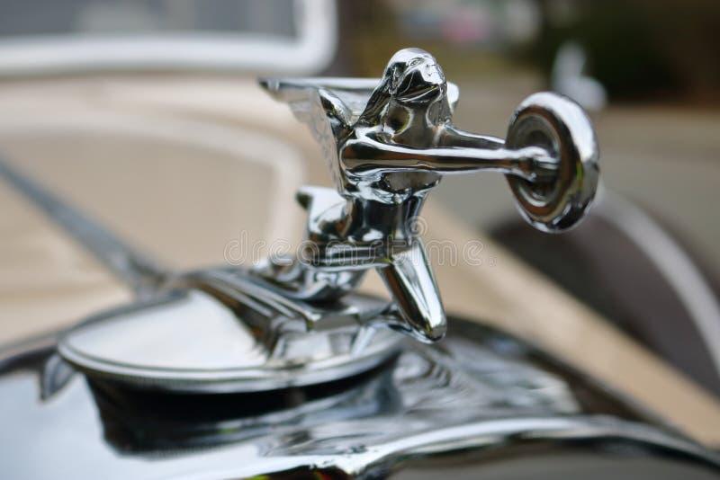 Klasyczny Rolls Royce kapiszonu ornament obraz stock