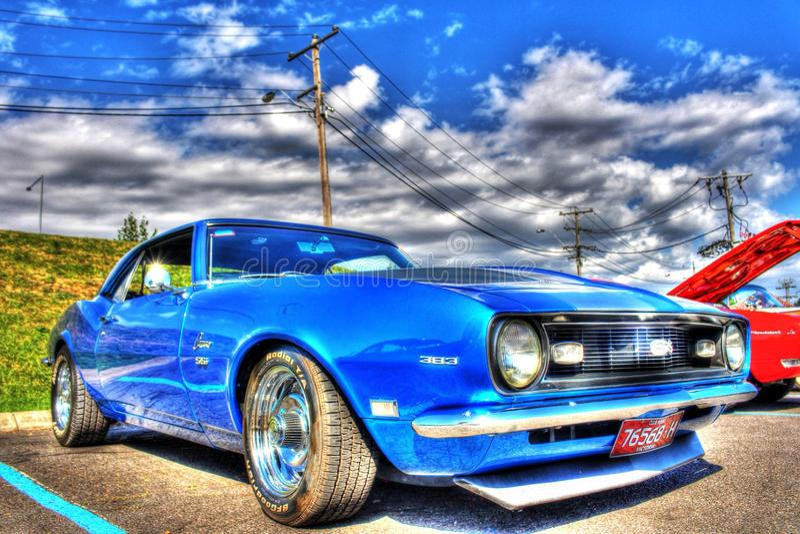 Klasyczny 1960s amerykanin Chevy Camaro SS zdjęcie royalty free