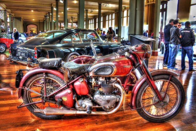Klasyczny 1940s angielszczyzn Triumph motocykl obraz royalty free