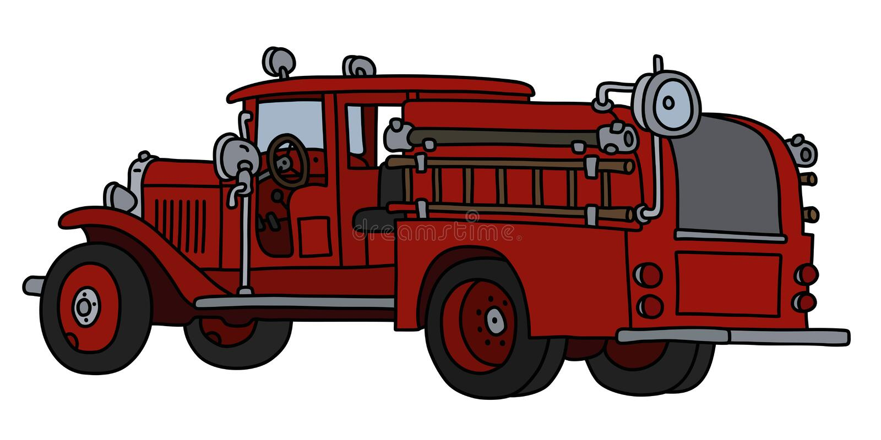 Klasyczny samochód strażacki ilustracja wektor