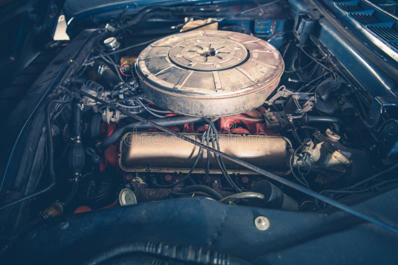 Klasyczny Samochodowy benzyna silnik fotografia royalty free