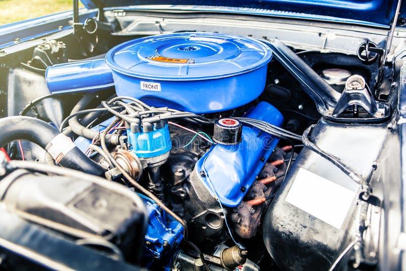 Klasyczny samochodowy silnik Mięśni sportów samochodowy samochód obrazy royalty free