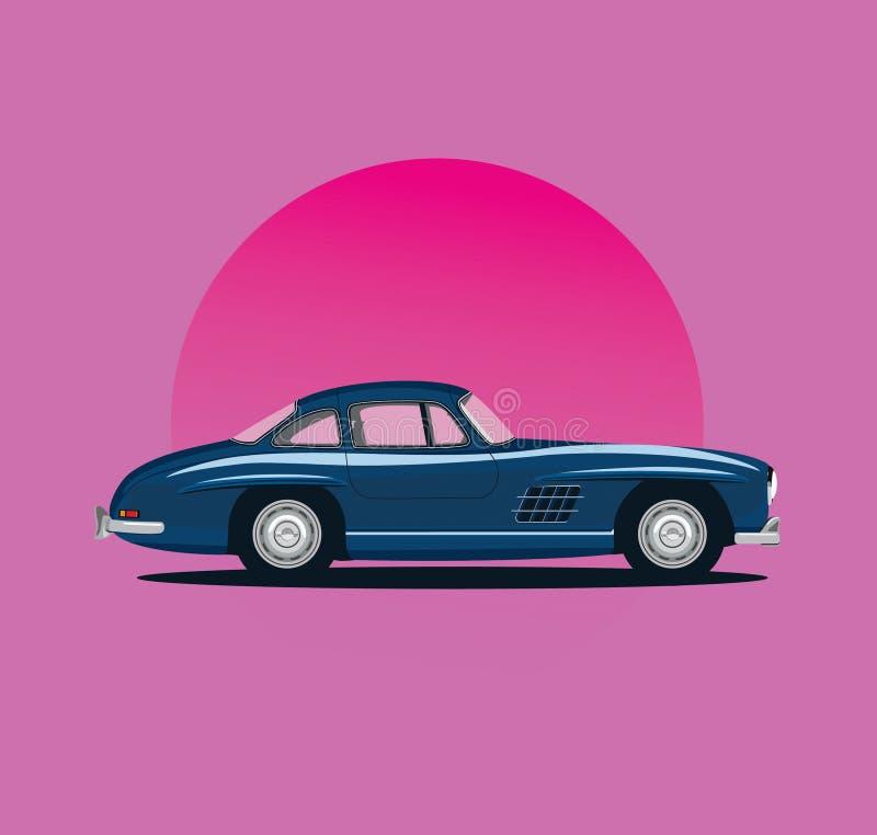 Klasyczny 300SL Ilustracyjny projekt zdjęcie royalty free