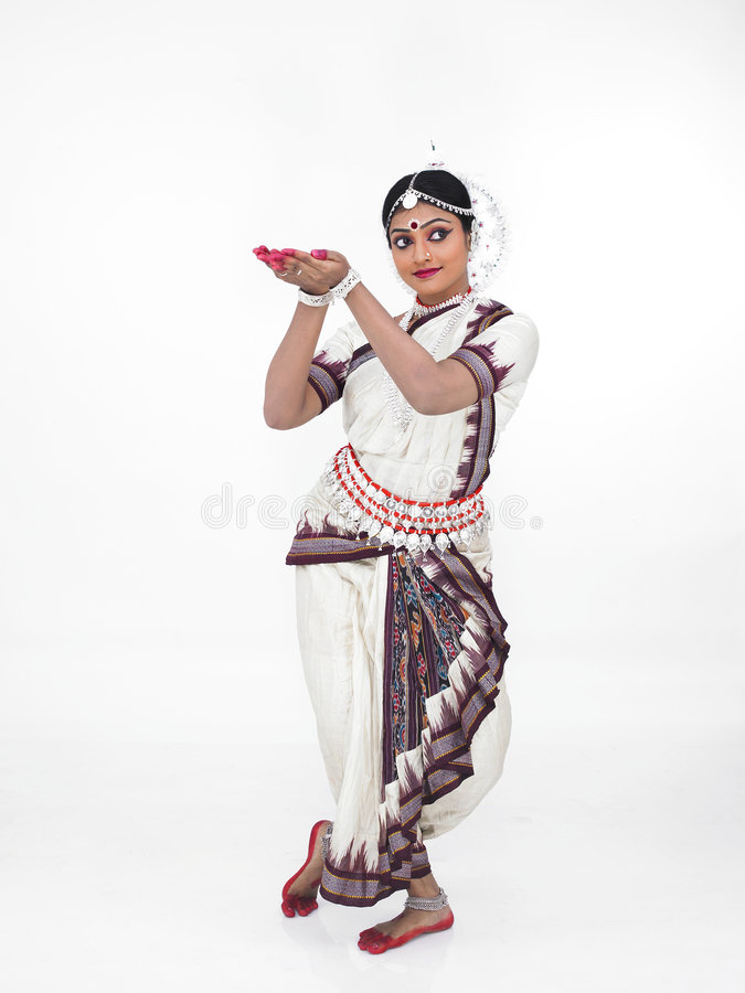klasyczny tancerza kobiety hindus obrazy royalty free