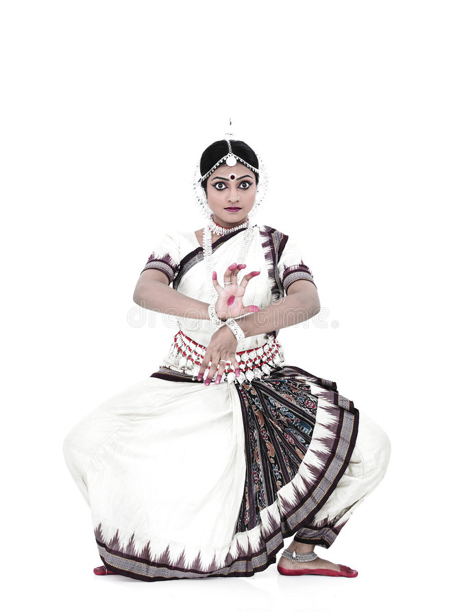 klasyczny tancerza kobiety hindus obrazy stock
