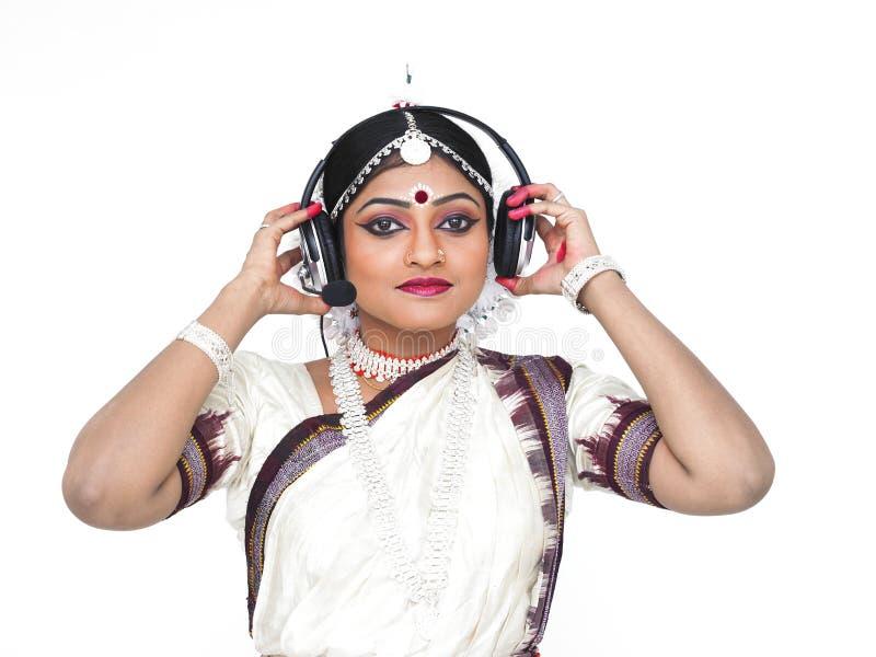 klasyczny tancerza kobiety hindus zdjęcia royalty free