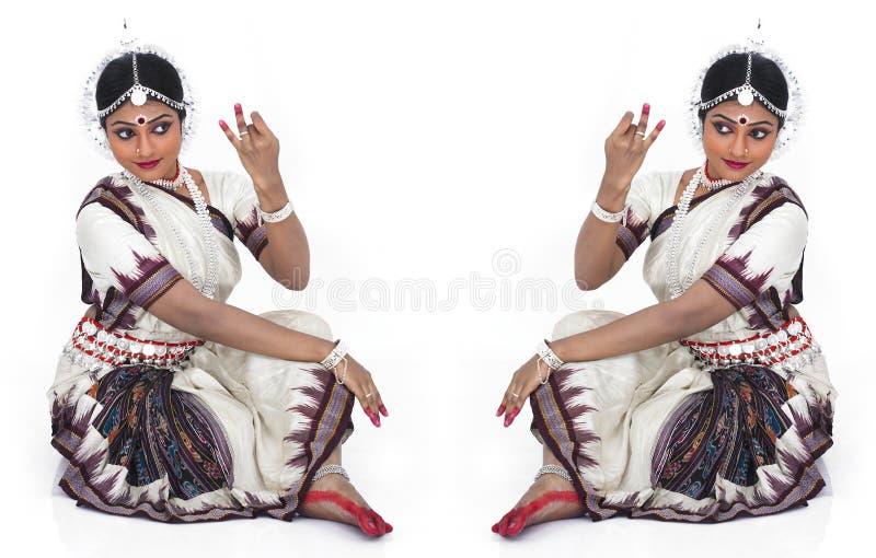 klasyczny tancerza kobiety hindus zdjęcie royalty free
