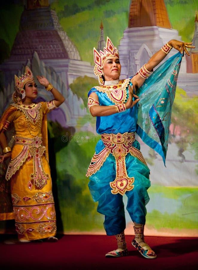 klasyczny taniec Myanmar fotografia royalty free