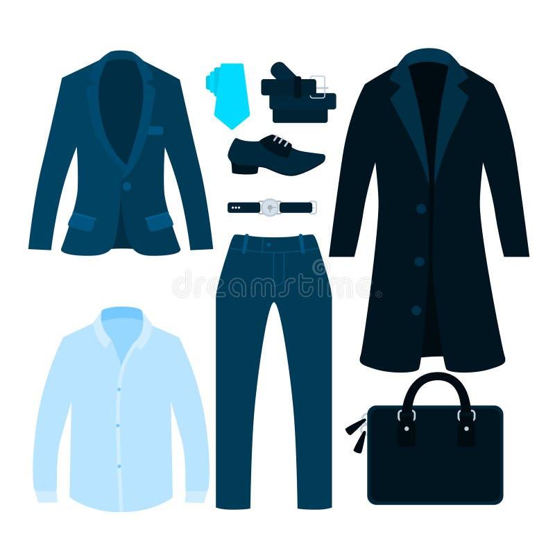 Klasyczny ubraniowy biznesmen royalty ilustracja