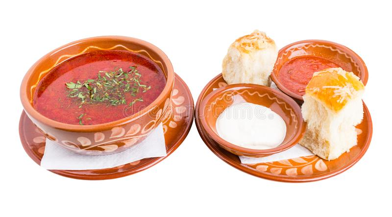 Klasyczny ukraiński borscht obrazy royalty free