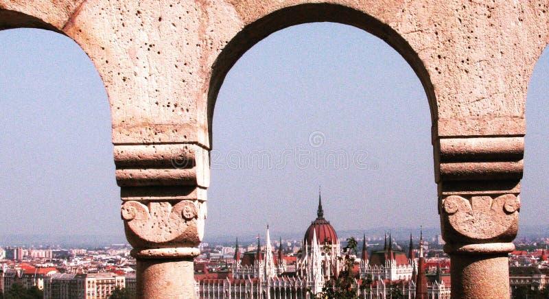 Klasyczny widok Budapest obrazy stock