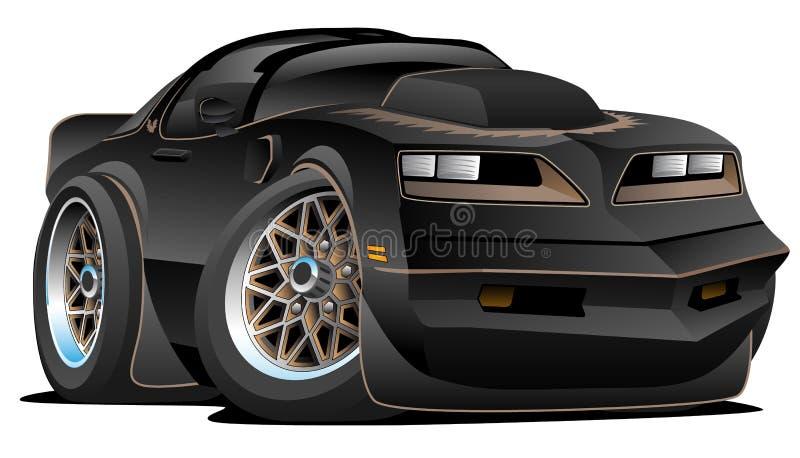 77 klasyków mięśnia samochodu kreskówka royalty ilustracja