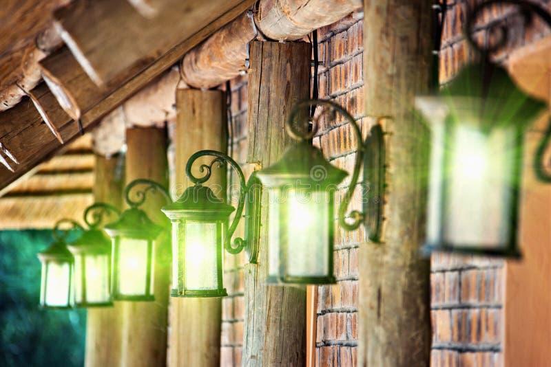 Klasyk żelazne lampy obraz stock