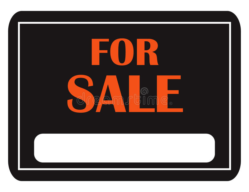 Klasyk Dla Sprzedaż Znaka royalty ilustracja