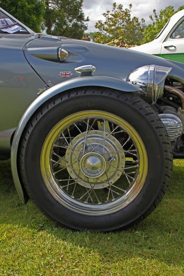 Klasyk i rocznika Samochodowy szczegół zdjęcie royalty free