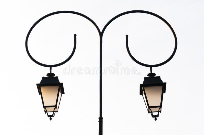 Klasyk kopii przegięty uliczny lampion fotografia stock