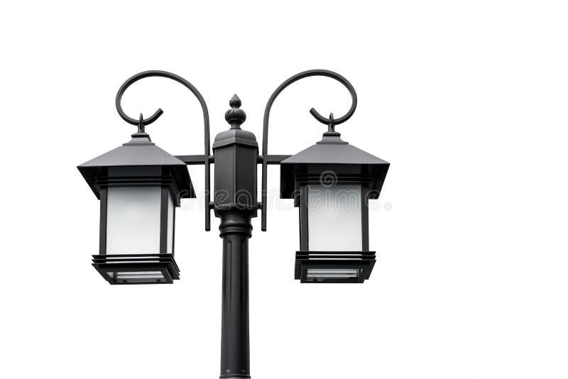 Klasyk lampy i piękni kształty na białym tle używać w domowej dekoracji obraz royalty free