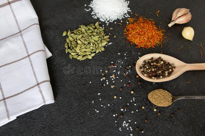Klasyk mieszane pikantność dla gotować fotografia royalty free