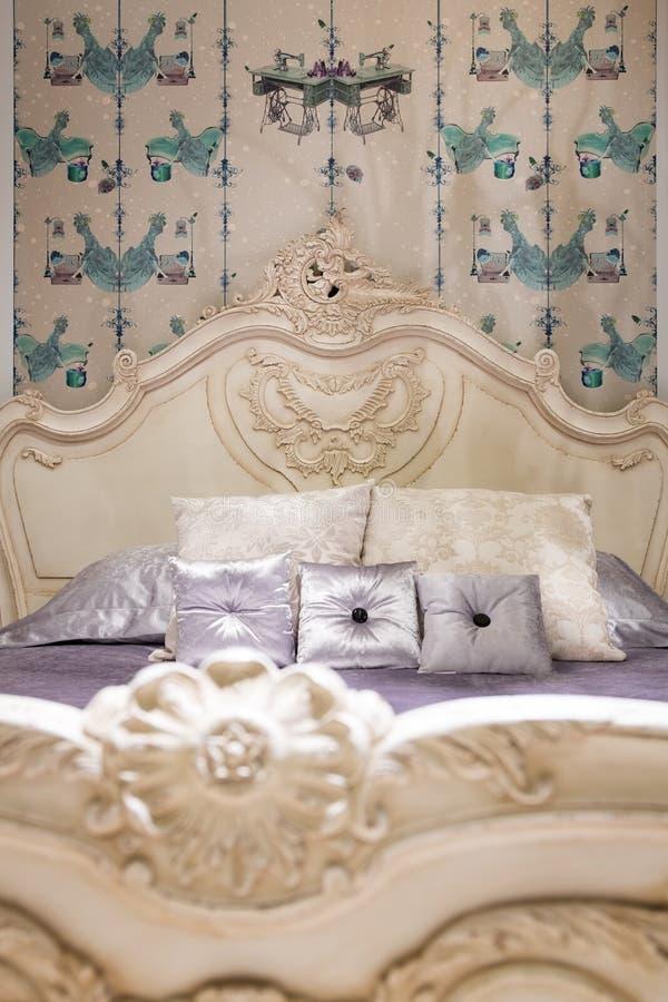 Klasyk stylowa sypialnia zdjęcia stock