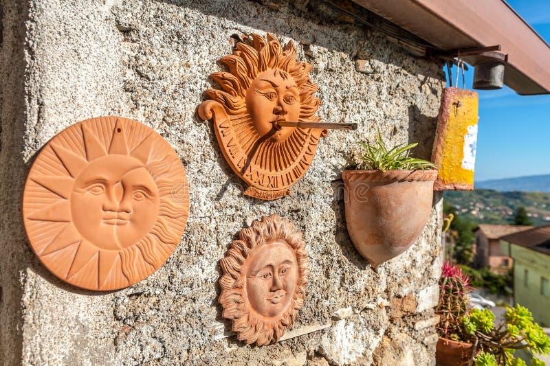 Klasyk, tradycyjni ornamenty robić glina zdjęcia stock