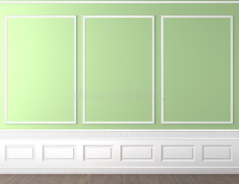 klasyka kopii zieleni przestrzeni ściana royalty ilustracja