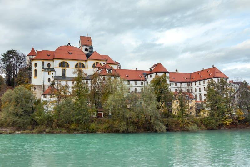 Klasztor św. Manga nad rzeką Lech fotografia royalty free