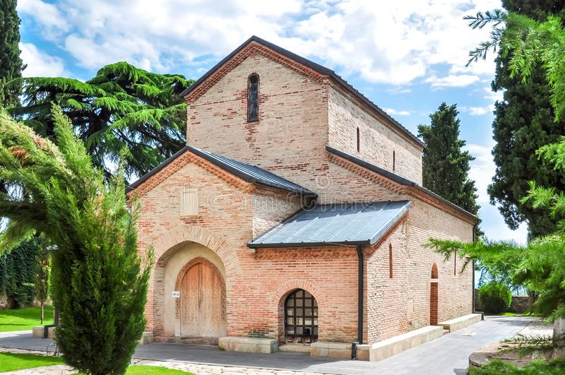 Klasztor Bodbe w Kakheti poza Sighnaghi, Gruzja fotografia royalty free