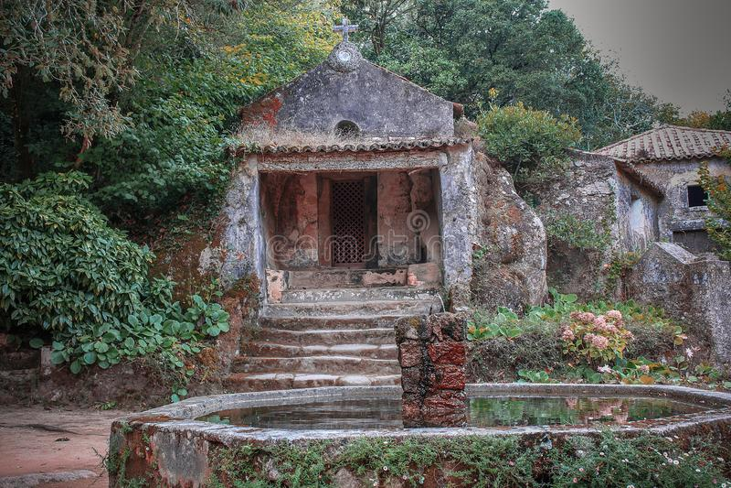 Klasztor Capuchos, Sintra zdjęcie stock