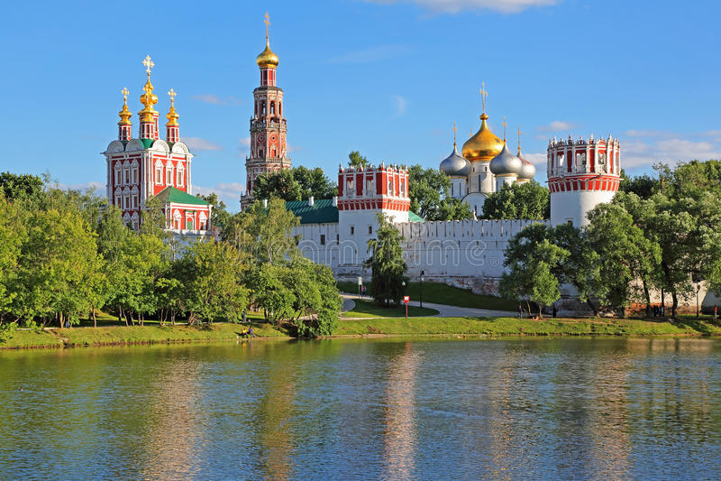 klasztor Moscow novodevichy fotografia royalty free