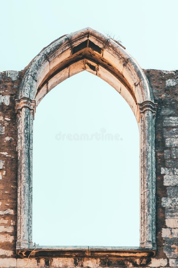 Klasztor Nasz dama góra Carmel Convento da Jest Gockim koÅ›ciół rzymsko-katolicki BudujÄ…cym W 1393 W Lisbon mieÅ›cie Ordem ro zdjęcie stock