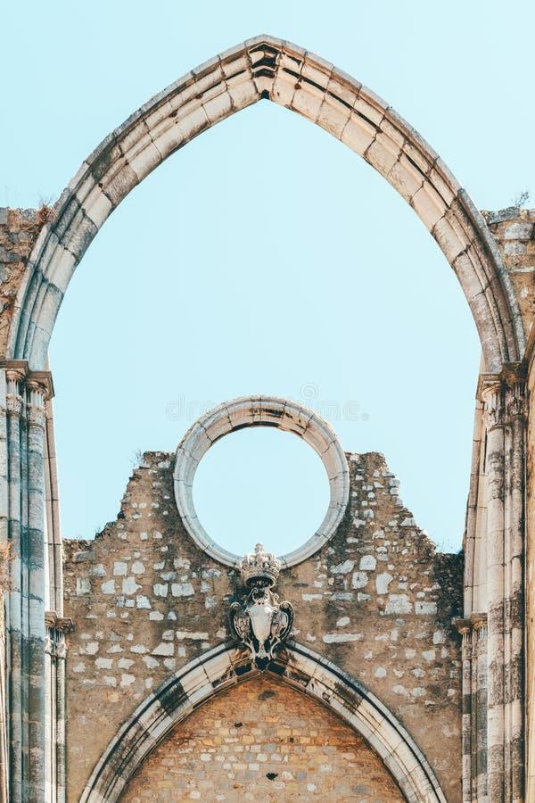Klasztor Nasz dama góra Carmel Convento da Jest Gockim kościół rzymsko-katolicki Budującym W 1393 W Lisbon mieście Ordem ro fotografia stock