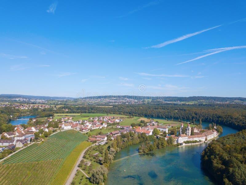 Klasztor Rheinau obrazy royalty free