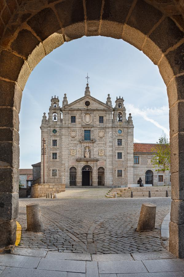 Klasztor Santa Teresa w Avila, Castilla y Leon, Hiszpania obraz royalty free