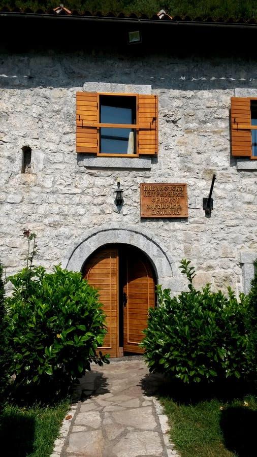 Klasztorna biblioteka w monasterze Marach obraz royalty free