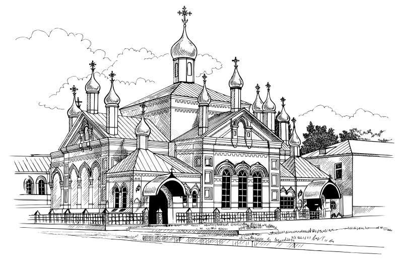 Klasztoru rysunek ilustracji