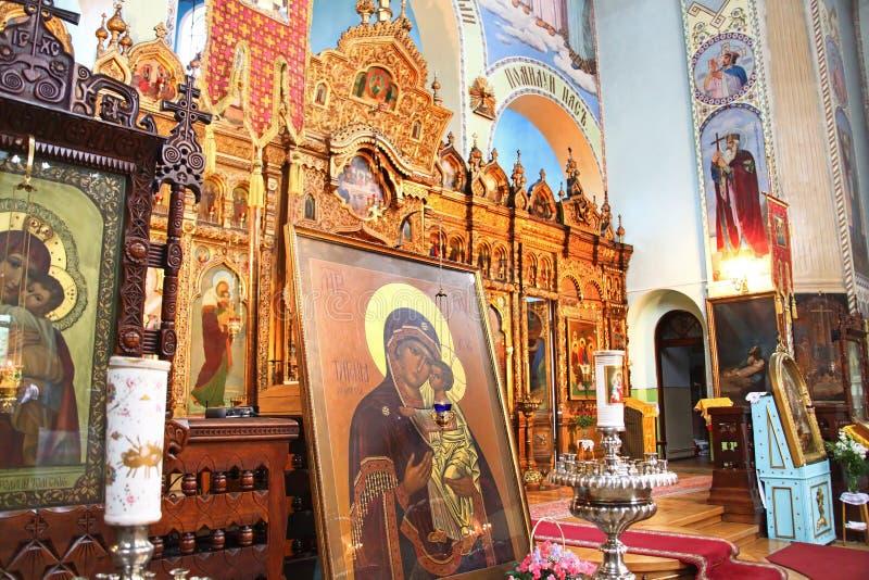 klasztoru trinity wewnętrzny ortodoksyjny świątobliwy zdjęcie stock