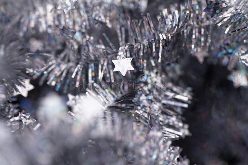 klatergoud De decoratie van Kerstmis stock foto