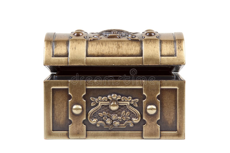 klatka piersiowa złota obraz stock